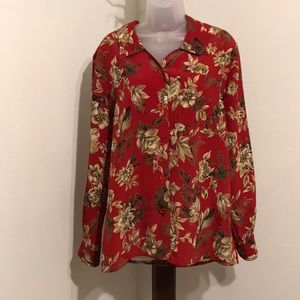 Alfred Dunner floral top long sleeve shirt